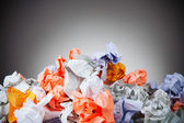 Business: Crumpled Pile Of Waste Paper — Stock Photo