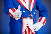 Patriotic: Uncle Sam Gives Thumbs Up — Foto Stock