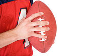 Football: Anonymous Man Gripping Football — Photo