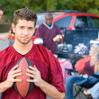 Tailgating: Male Student Upset That Football Team Is Losing — Stock Photo #51023695