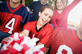 Tailgating: Friends Cheering For Football Team — Photo