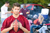 Tailgating: Male Student Upset That Football Team Is Losing — Foto Stock