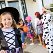 Halloween: Cute Girl Halloween Witch — Stock Photo #51048765