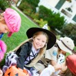 Halloween: Taking A Break To Look At Candy — Stock Photo #51048845