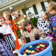 Halloween: Bobbing for Apple Game — Stock Photo #51048913