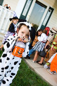 Halloween: Cute Trick or Treater with Flashlight — Stock Photo