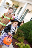 Halloween: Going to Get More Candy At Next House — Стоковое фото