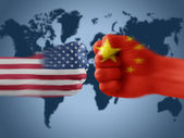USA & China - disagreement — Stock Photo