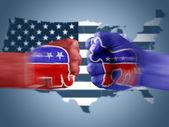 Republicans x Democrats — Stock Photo