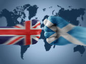 Uk x scotland — Stock Photo