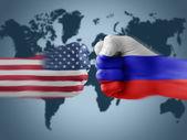 Usa x russia — Stock Photo