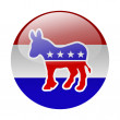 Democratic party button — Stock Photo