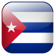 Cuba flag button - Stock Photo