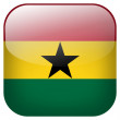 Ghana flag button — Stockfoto