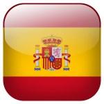 Spain flag button — Stock Photo