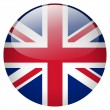 Uk flag button — Stock Photo