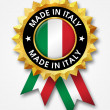 Made in italy badge — Stock Photo