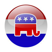 Republican party button — Stock Photo