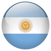 Argentina flag button — Stock Photo