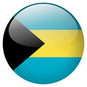 Bahamas flag button — Stock Photo