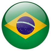 Brazil flag button — Stock Photo