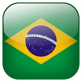 Brasil flag button — Stock Photo