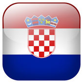Croatia flag button — Stock Photo