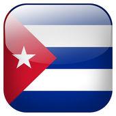 Cuba flag button — Stock Photo