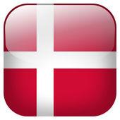 Denmark flag button — Stock Photo