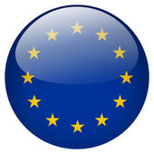 Eu flag button — Stock Photo