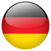 Germany flag button — Stock Photo
