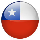 Chile flag button — Stock Photo