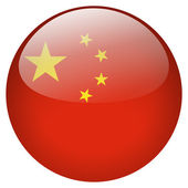 China flag button — Stock Photo