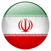 Iran flag button — Stock Photo