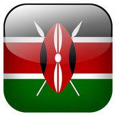 Kenya flag button — Stock Photo