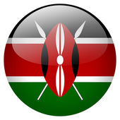 Kenya flag button — Stock Photo