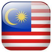 Malaysia flag button — Stock Photo