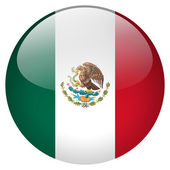 Mexico flag button — Stock Photo