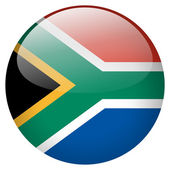 South africa flag button — Stock Photo