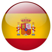 Spain flag button — Stock Photo