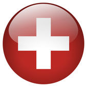 Switzerland flag button — Stock Photo