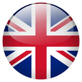 Uk flag button — Foto de Stock