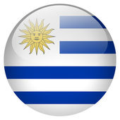 Uruguay flag button — Stock Photo