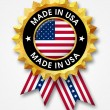 Made in usa badge — Stock Photo #24388141