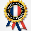 Royalty-Free Stock Photo: Made in france badge