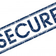 Stock Photo: Secure stamp