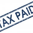 Tax paid stamp - Stock Photo