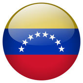 Venezuela flag button — Stock Photo
