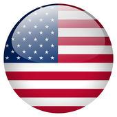 Usa flag button — Stock Photo