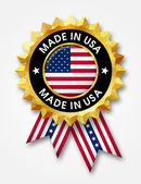 Made in usa badge — Stock Photo